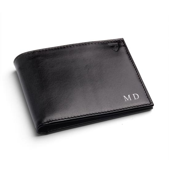 Billfold Wallet in Black Pebble from Aspinal of London