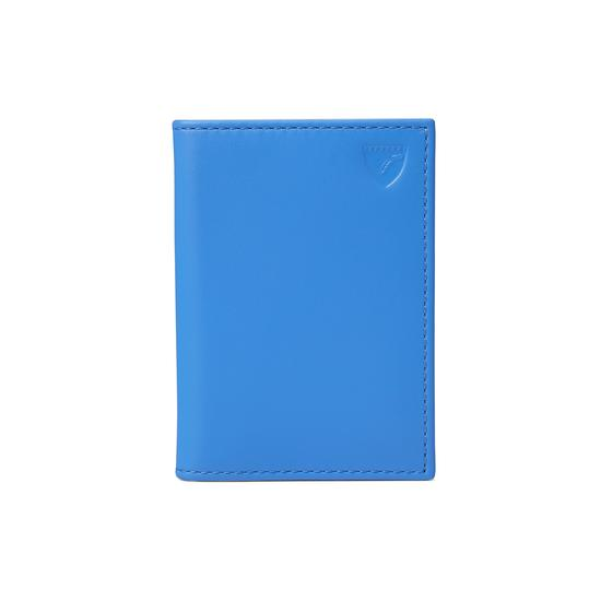 Double Fold Credit Card Case in Smooth Forget Me Not from Aspinal of London