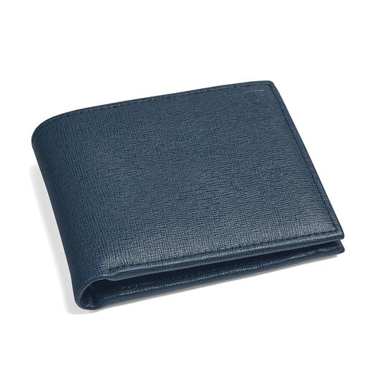 Billfold Coin Wallet in Teal Saffiano from Aspinal of London