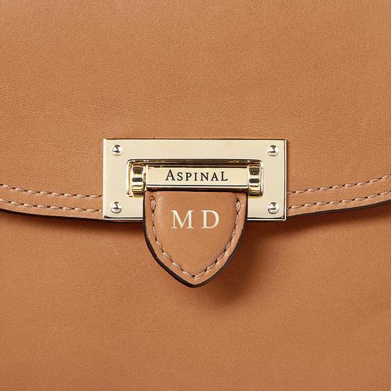Portobello Bag in Smooth Natural Tan from Aspinal of London