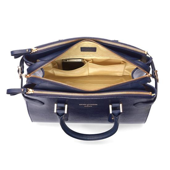 Brook Street Bag in Midnight Blue Lizard from Aspinal of London