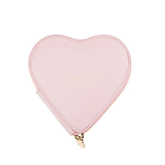 Heart Coin Purse in Smooth Rose Dust from Aspinal of London