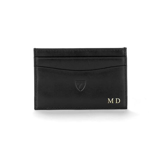 Slim Credit Card Case in Chanterelle Pebble from Aspinal of London