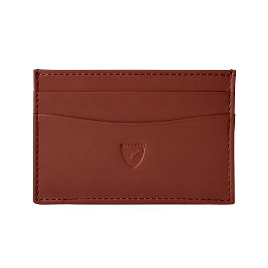 Slim Credit Card Case in Smooth Soft Redwood from Aspinal of London