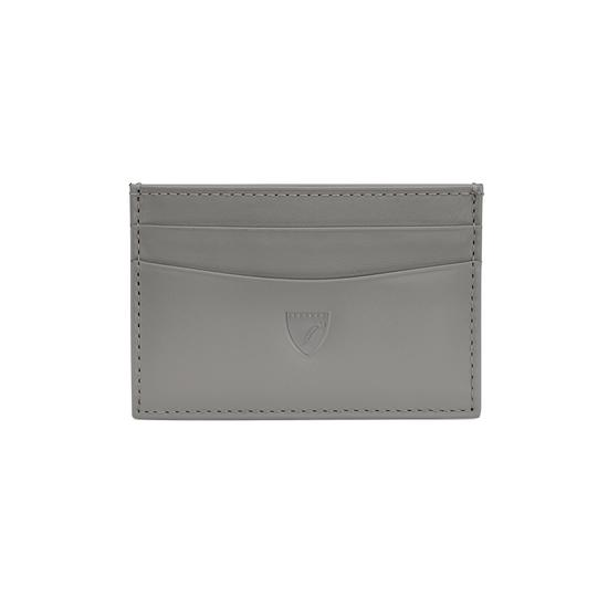 Slim Credit Card Case in Smooth Mouse Nappa from Aspinal of London