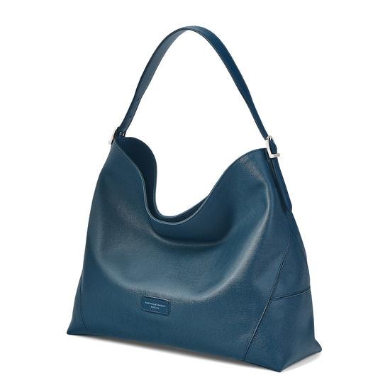 Aspinal Hobo in Teal Saffiano & Smooth Teal from Aspinal of London