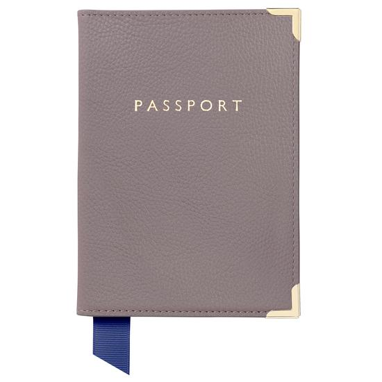 Passport Cover in Chanterelle Pebble from Aspinal of London