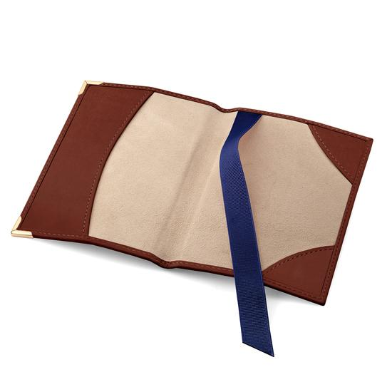 Passport Cover in Smooth Soft Redwood from Aspinal of London