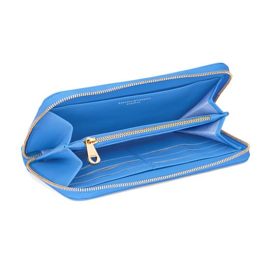Continental Clutch Zip Wallet in Smooth Forget Me Not from Aspinal of London