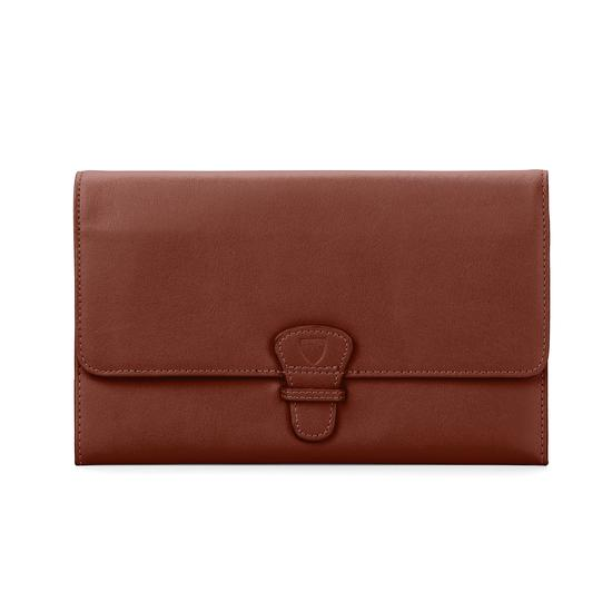 Classic Travel Wallet in Smooth Soft Redwood from Aspinal of London