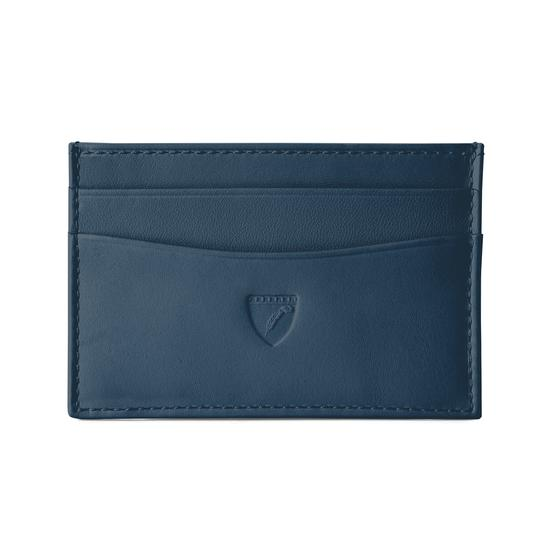 Slim Credit Card Case in Smooth Teal from Aspinal of London