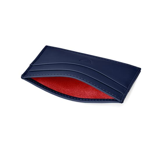 412ca5ee63 ... Slim Credit Card Case in Smooth Navy Nappa from Aspinal of London ...