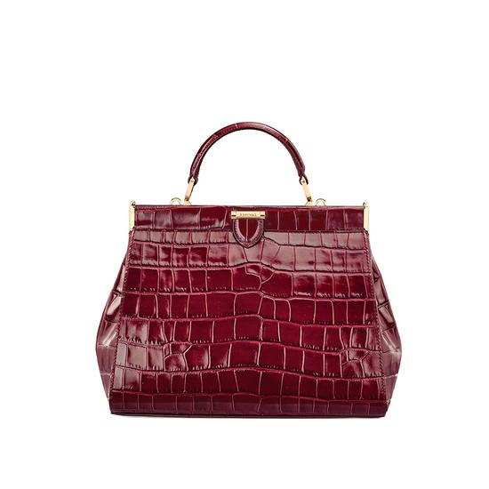 ad239407ec3c ... Small Florence Frame Bag in Bordeaux Croc from Aspinal of London ...