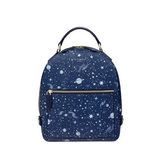 Constellation Backpack in Navy Constellation Print from Aspinal of London