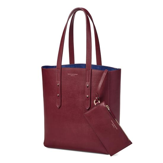Aspinal Essential Tote in Smooth Burgundy from Aspinal of London