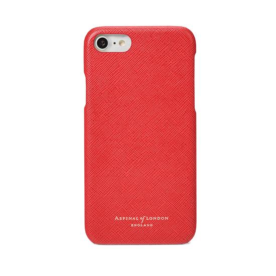 iPhone 7/8 Leather Cover in Dahlia Saffiano from Aspinal of London