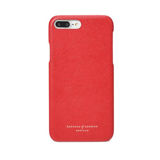 iPhone 7 Plus Leather Cover in Dahlia Saffiano from Aspinal of London