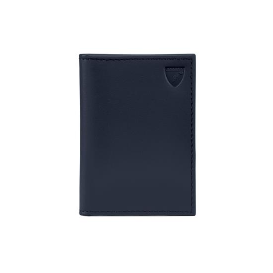 ID & Travel Card Case in Smooth Navy Nappa from Aspinal of London