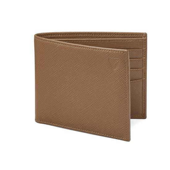 Billfold Wallet in Camel Saffiano from Aspinal of London