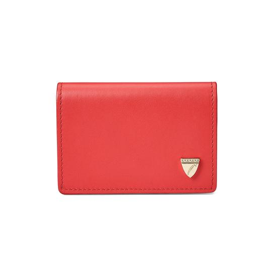 Accordion Credit Card Holder in Smooth Dahlia from Aspinal of London