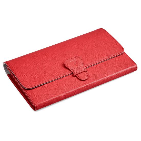 abea8896623c ... Classic Travel Wallet in Dahlia Saffiano from Aspinal of London ...