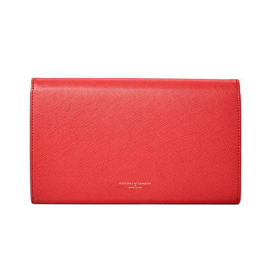 Classic Travel Wallet in Dahlia Saffiano from Aspinal of London