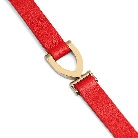 Stirrup Bracelet in Smooth Dahlia from Aspinal of London