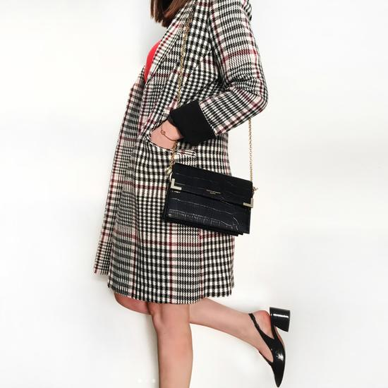 Chelsea Bag in in Deep Shine Tortoiseshell Patent from Aspinal of London