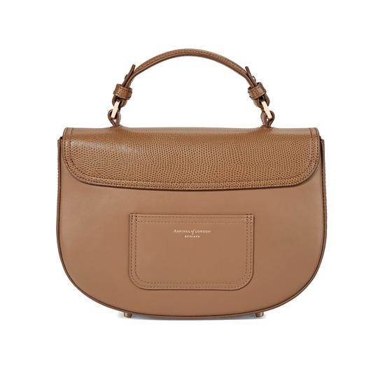 Letterbox Saddle Bag in Camel Lizard & Smooth Camel from Aspinal of London