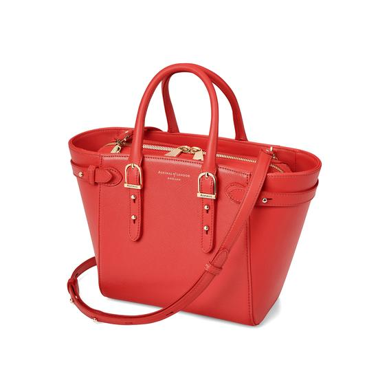Mini Marylebone Tote in Dahlia Saffiano from Aspinal of London