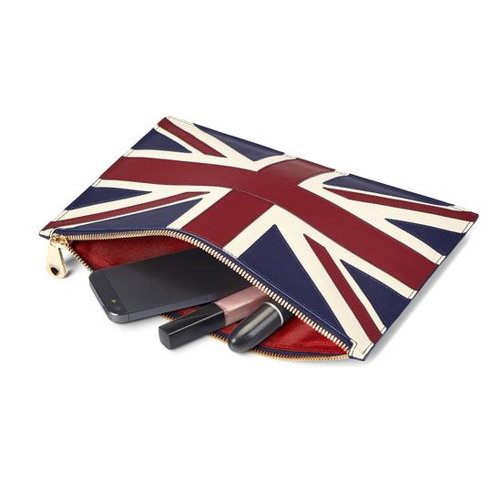 Brit Large Essential Flat Pouch from Aspinal of London