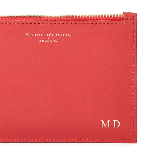 Small Essential Pouch in Smooth Dahlia from Aspinal of London