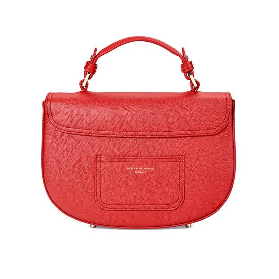 Letterbox Saddle Bag in Dahlia Saffiano from Aspinal of London