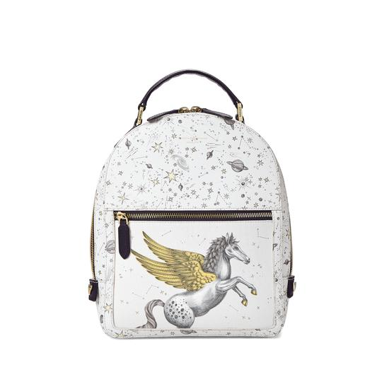 Pegasus Backpack in Ivory Pegasus & Constellation Print from Aspinal of London