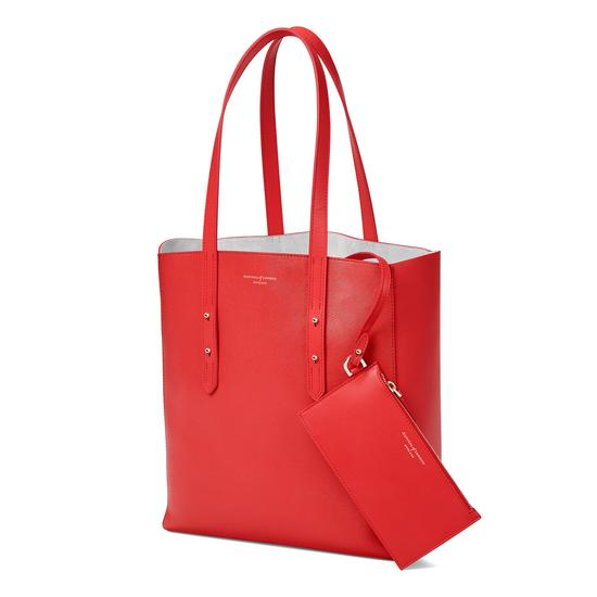 Essential Tote in Dahlia Saffiano from Aspinal of London
