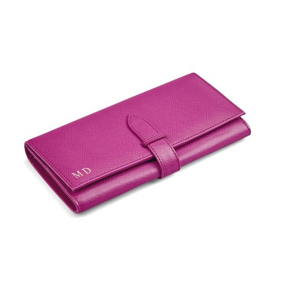 London Ladies Purse Wallet in Orchid Saffiano from Aspinal of London