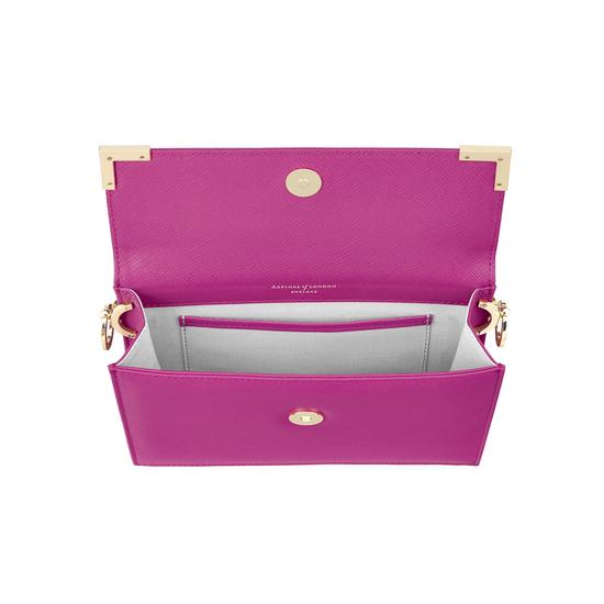 Chelsea Bag in Orchid Saffiano from Aspinal of London