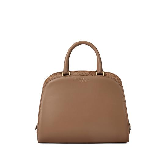 Mini Hepburn Bag in Smooth Camel & Camel Lizard from Aspinal of London