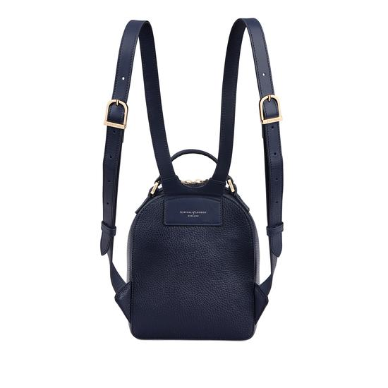Micro Mount Street Backpack in Bluemoon Pebble from Aspinal of London