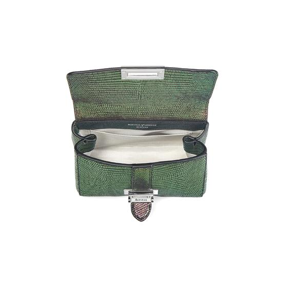 Micro Lottie Bag in Iridescent Lizard from Aspinal of London