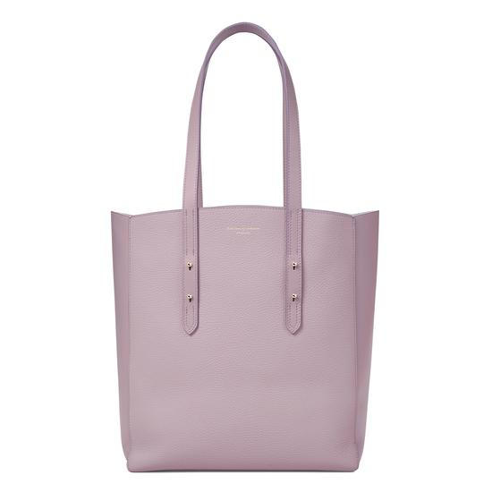 Essential Tote in Lilac Pebble from Aspinal of London
