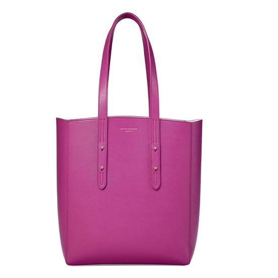 Essential Tote in Orchid Saffiano from Aspinal of London