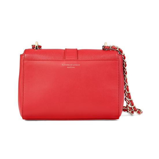 Small Lottie Bag in Dahlia Saffiano from Aspinal of London