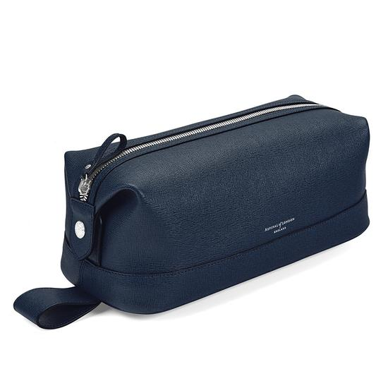 bedf9d80c5 Men s Leather Wash Bag in Navy Saffiano from Aspinal of London ...