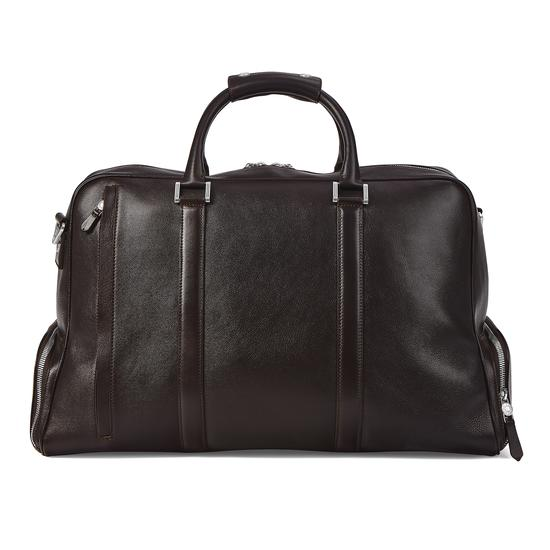 Aerodrome Long Weekender in Dark Brown Pebble from Aspinal of London