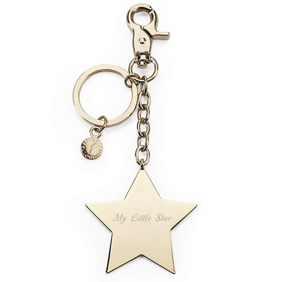 Gold Plated Star Handbag Charm & Keyring from Aspinal of London