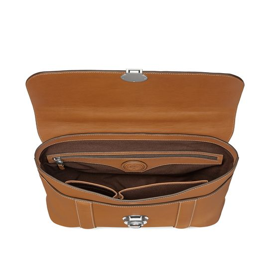 Aerodrome Briefcase in Smooth Tan from Aspinal of London