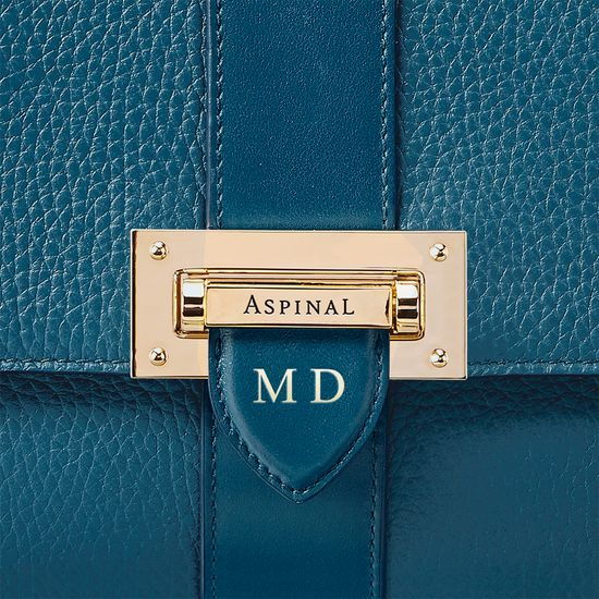 Large Lottie Bag in Topaz Pebble from Aspinal of London
