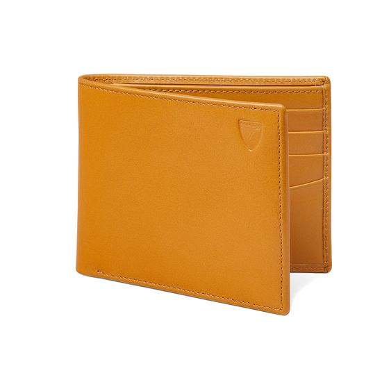 Billfold Wallet in Smooth Mustard from Aspinal of London