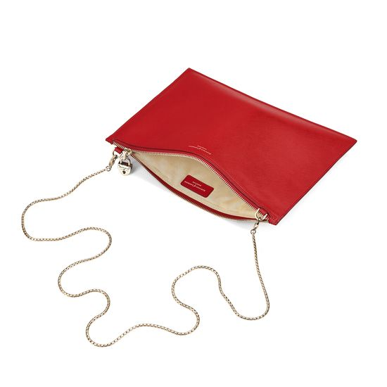 Soho Clutch in Scarlet Saffiano from Aspinal of London